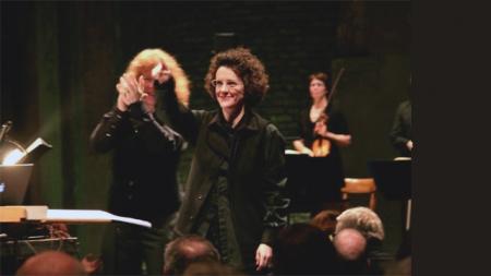 Olga Neuwirth & Sian Edwards bei Wien Modern (Foto: Wien Modern Facebook Fanpage)