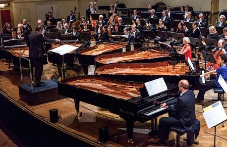 """""""Limited approximations"""" mit 6 Klavieren von Georg Friedrich Haas war anlässlich von Wien Modern zu hören (Foto: © Markus Sepperer)"""