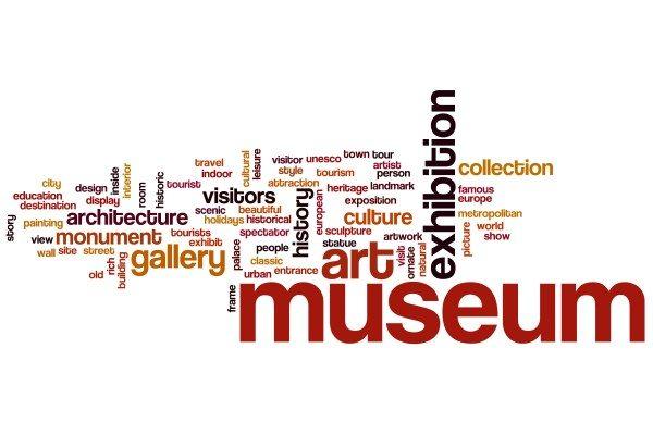 Museum word cloud concept